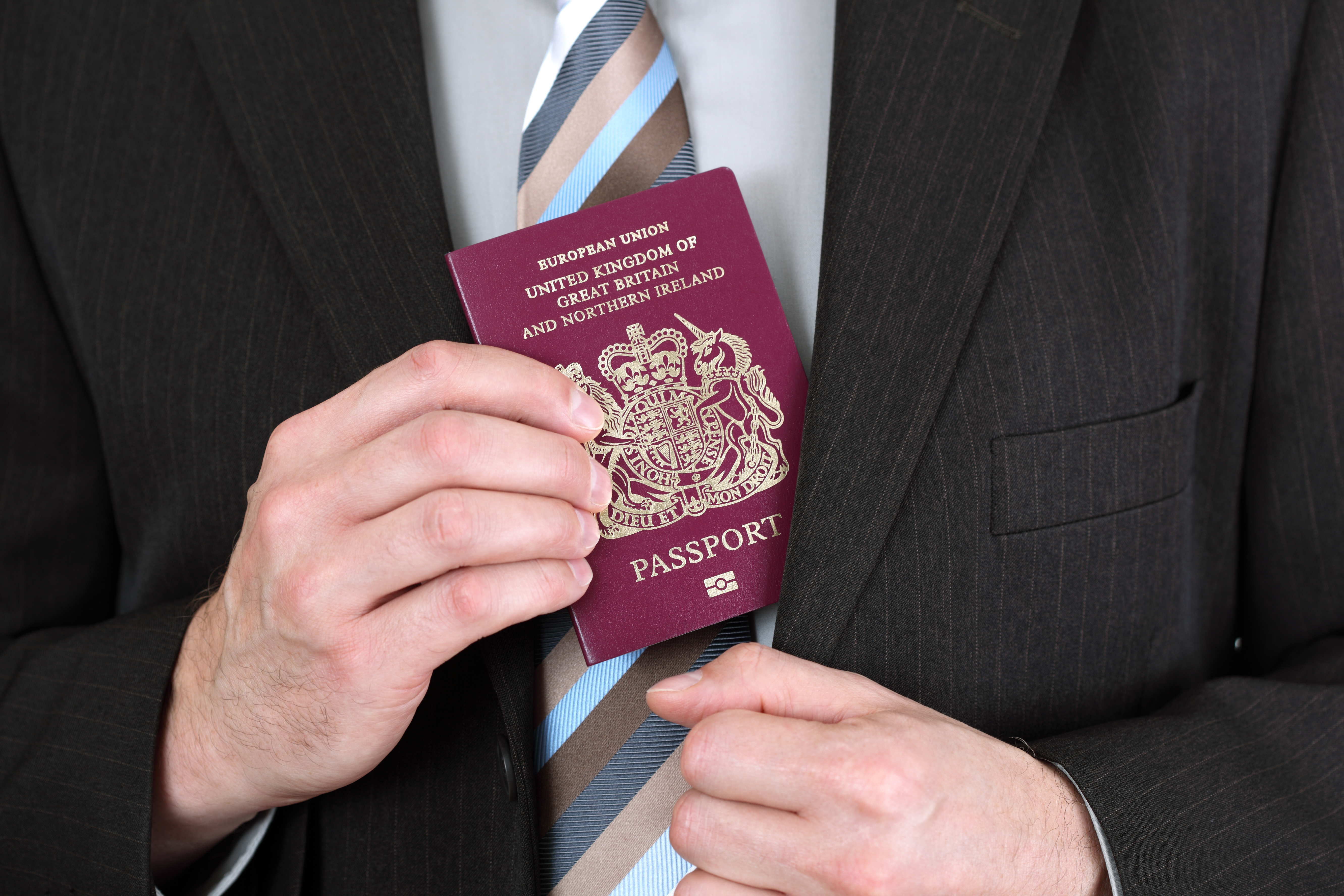 Passport of a resident of England obtained after applying for an innovator visa to the UK