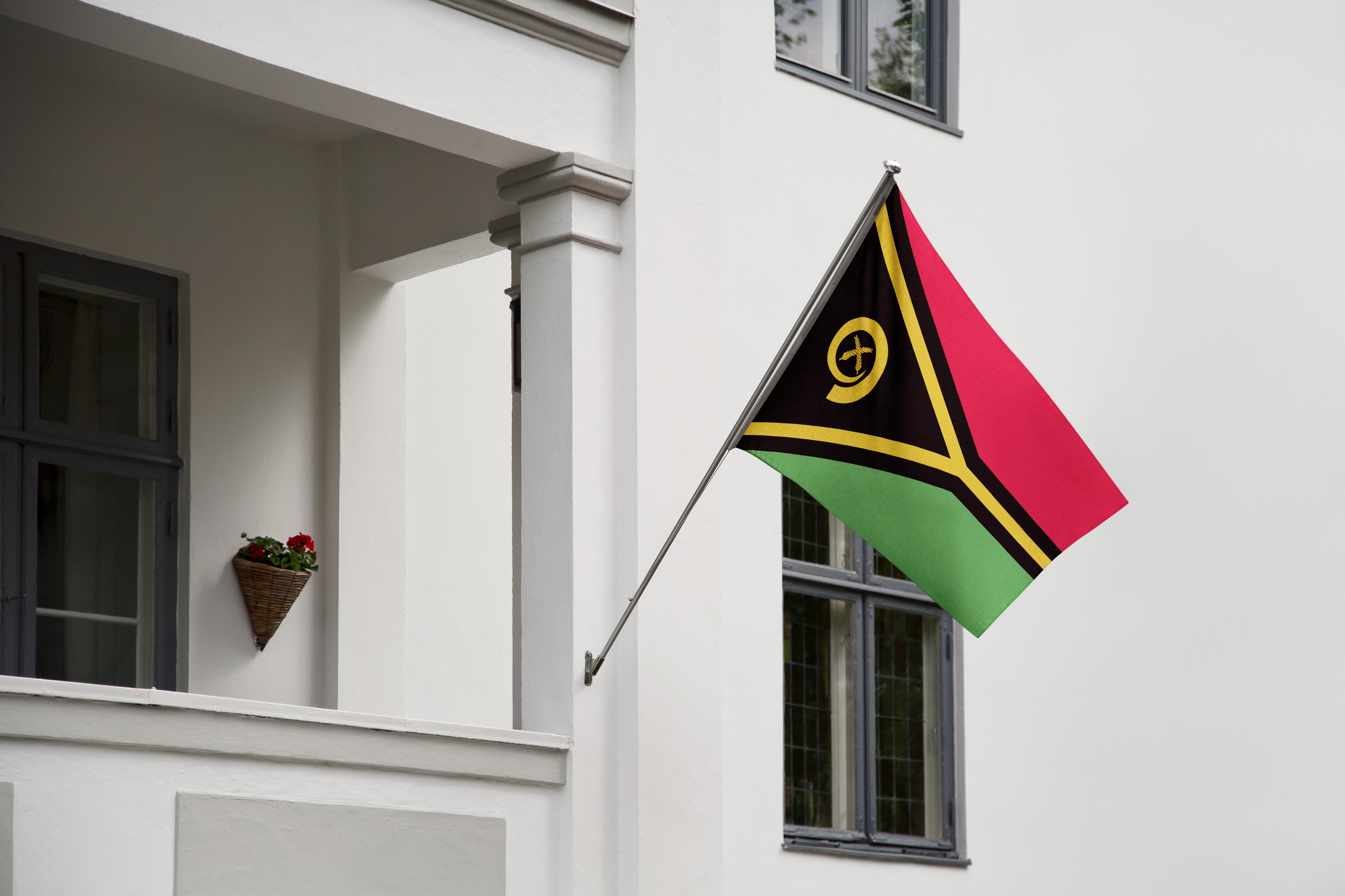 Flag of Vanuatu, a family can immigrate to this country and receive a Vanuatu passport by investment