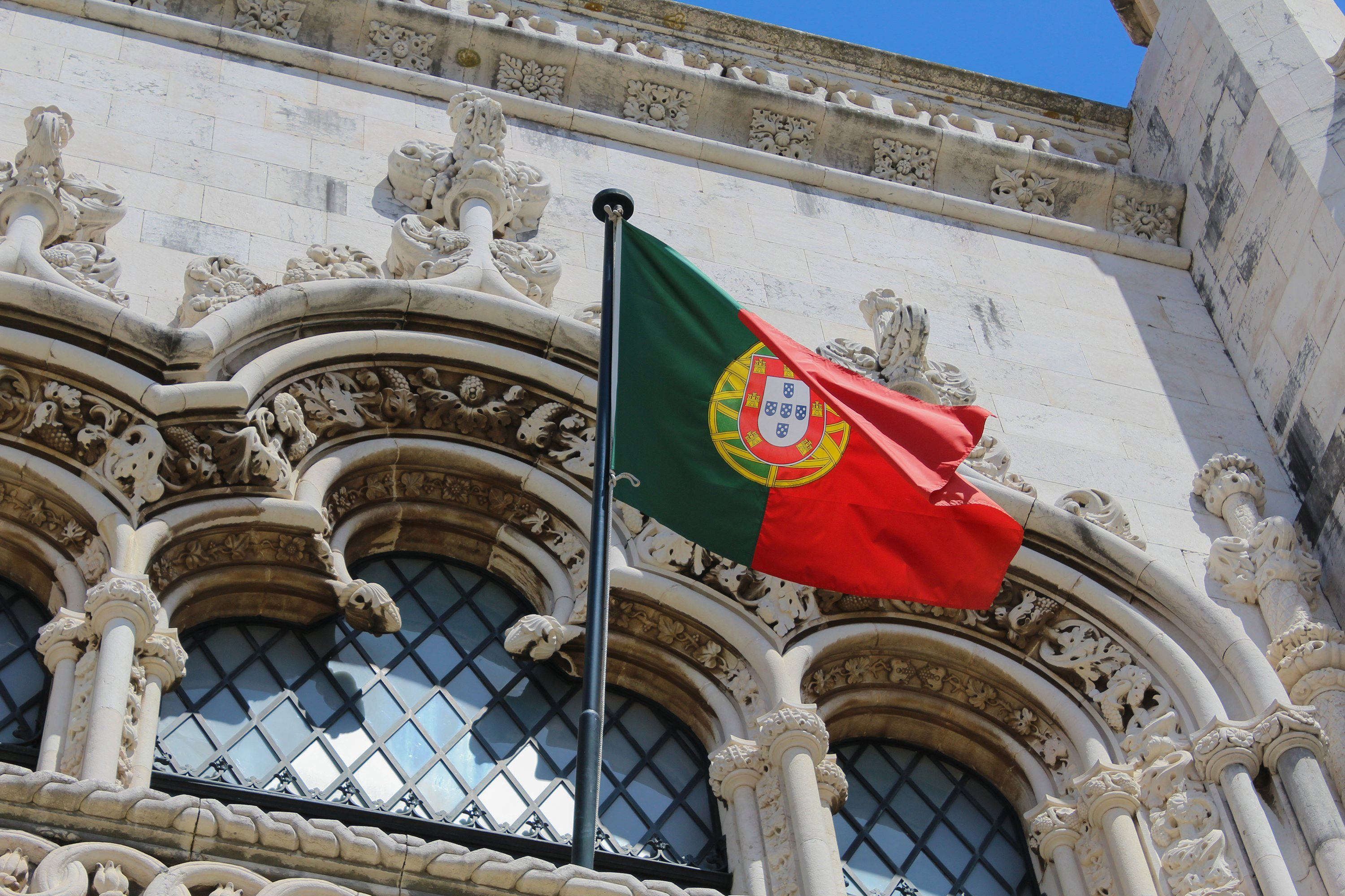 Flag symbolizing Portuguese citizenship that an investor can obtain through a Portuguese residence permit for investment